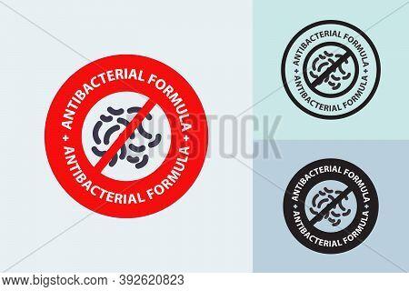 Anti Bacterial Formula Vector Illustration, Sign, Logo, Emblem, Health Care, Medical