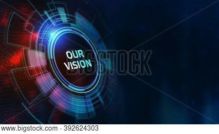 Business, Technology, Internet And Network Concept. Virtual Screen Of The Future And Sees The Inscri
