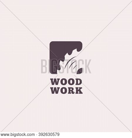 Logo Design Template For Wood Shop, Carpentry, Sawmill, Lumberjack Service, Woodworkers, Wood Workin