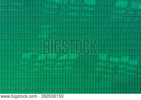 Green Roof Pattern For Background And Texture.