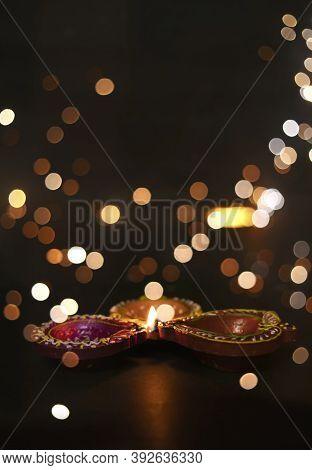 Beautiful Diwali Lighting, Selective Focus Backgrounds Closeup