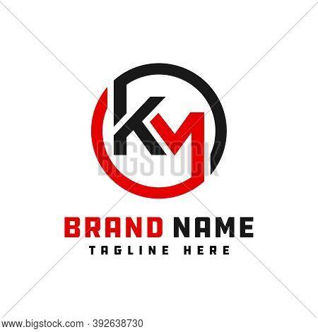 Monogram Logo Design Letter Km Or Brand
