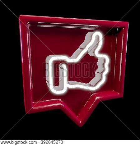 Internet, Business, Technology And Network Concept. Like. Like Icon. Like Symbol. Like Sign. Thumb U