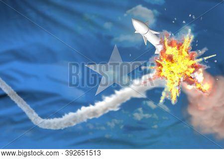 Strategic Rocket Destroyed In Air, Somalia Ballistic Missile Protection Concept - Missile Defense Mi