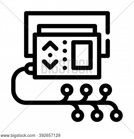 Daily Monitoring Of Rhythm Line Icon Vector Illustration
