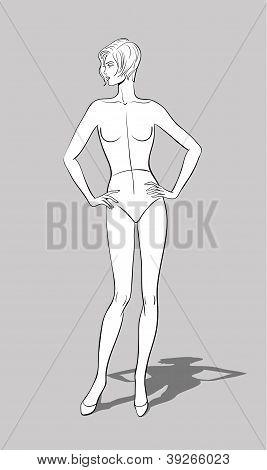 Female Fashion Figurine