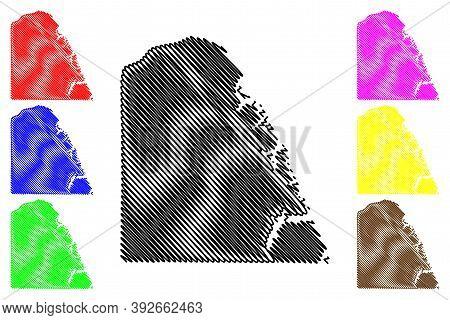 Marshall County, Kentucky (u.s. County, United States Of America, Usa, U.s., Us) Map Vector Illustra
