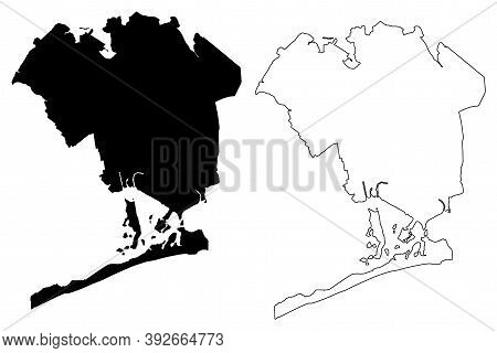 Queens County, New York State (u.s. County, United States Of America, Usa, U.s., Us) Map Vector Illu