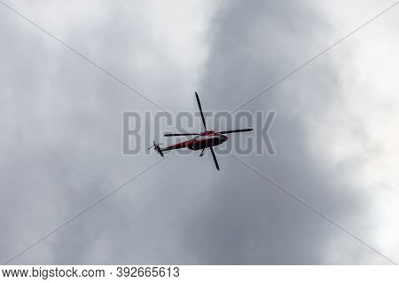 Tatra Mountains, Poland, 25/09/2020. Helicopter Pzl W-3 Sokol Of Tatra Volunteer Search And Rescue (