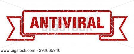 Antiviral Grunge Vintage Retro Band. Antiviral Ribbon