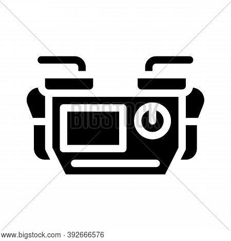 Defibrillator Medical Equipment Glyph Icon Vector Illustration