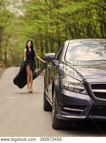 Symbol Of Richness. Travel By Car. Auto Service. Rich People Lifestyle. Start Journey. Luxury Car. A