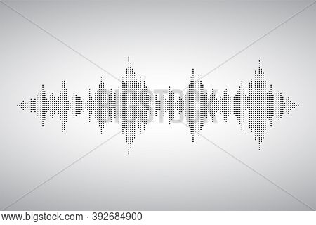 Audio Wave From Smal Dost. Voice Sound Music Shape. Waves Of The Equalizer. Eq Vector Illustration.