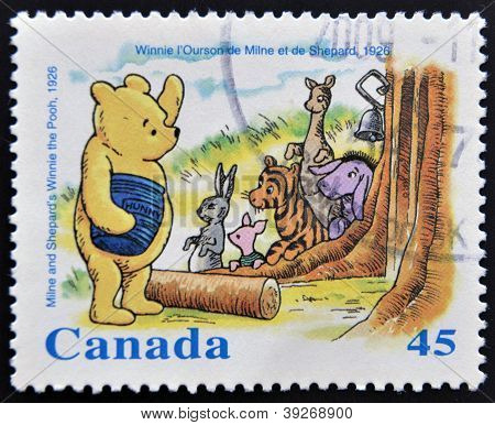 CANADA - CIRCA 1996: stamp printed inCanada shows Milne and Shepard�s Winnie the Pooh circa 1996
