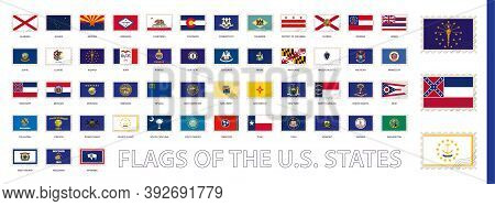 Postage Flag Set, Us State Flags. Flags Sorted By Alphabet.