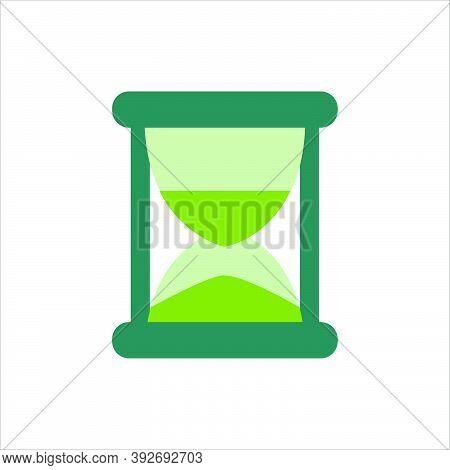 Flat Design Sandglass Icon. Time Vector Concept.