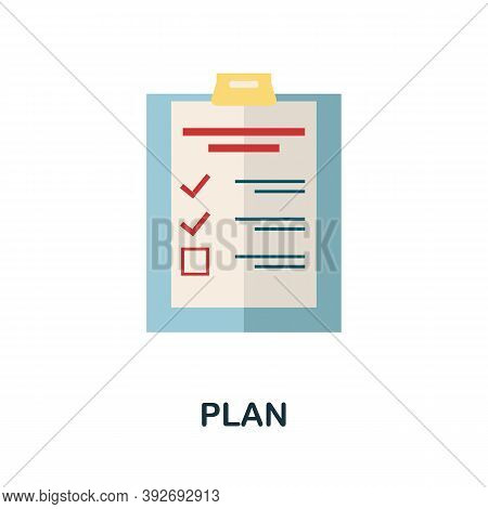 Plan Icon. Simple Element From Creativity Collection. Creative Plan Icon For Web Design, Templates,