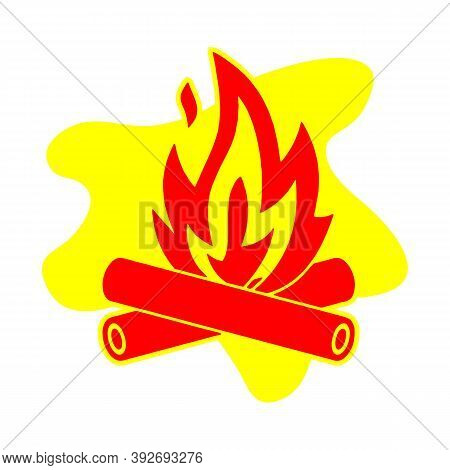 Campfire Icon. Simple Illustration Of Campfire Vector Icon For Web
