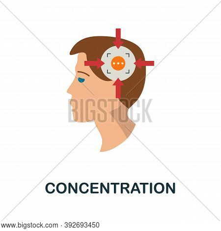 Concentration Icon. Simple Element From Creativity Collection. Creative Concentration Icon For Web D