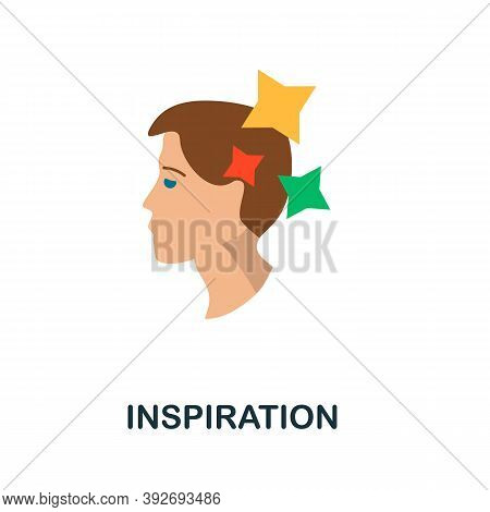 Inspiration Icon. Simple Element From Creativity Collection. Creative Inspiration Icon For Web Desig