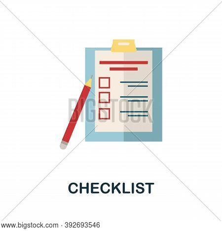 Checklist Icon. Simple Element From Creativity Collection. Creative Checklist Icon For Web Design, T