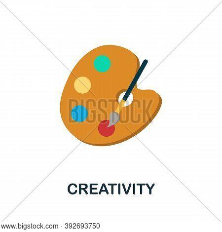 Creativity Icon. Monochrome Simple Creativity Icon For Templates, Web Design And Infographics