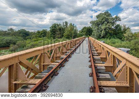 The Moerputten Bridge Is A Former Dutch Railway Bridge. The Bridge Was In Use As Railway Bridge From
