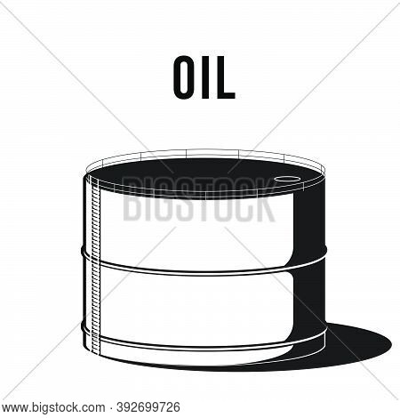 Falling Oil Prices On Stock Market. Overflowing Oil Storage Facility Composition. Industrial Facilit