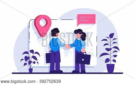Expat Work Concept. Human Resources Agency For Migrants. Effective Migrant Workers, Expatriate Progr