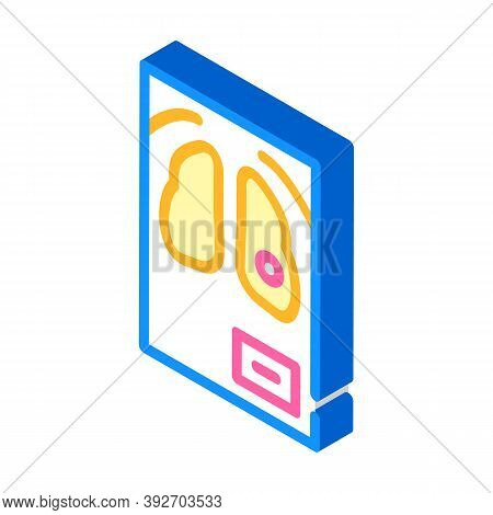 Fluorography Snapshot Isometric Icon Vector Illustration Sign