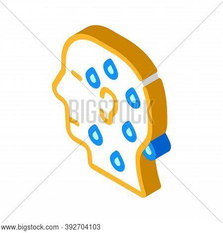 Pre-infarction, Cold Sweat Isometric Icon Vector Illustration