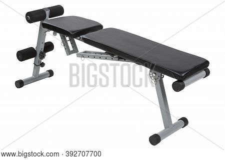 Incline Bench For Fitness Or Powerlifting, On White Background