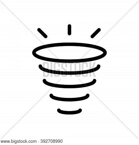 Vortex, Whirlpool Icon In Line Design Style. Tornado, Hurricane Symbol.