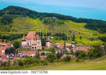 Popular Transylvanian Touristic Location, Saxon Village With Famous Fortified Church, Biertan, Trans