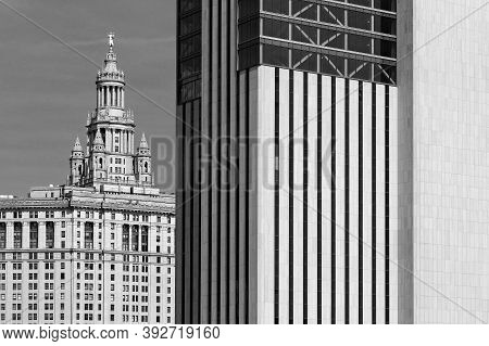 New York City, Usa, September 11, 2017 : Buildings In Manhattan. Manhattan Is The Most Densely Popul