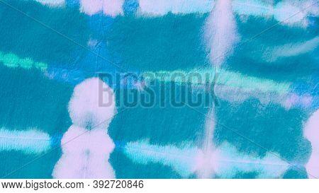 Shibori Squares. Batik Texture. Ocean Abstract Watercolor. Paintbrush Spots. Tie Dye Texture. Mariti