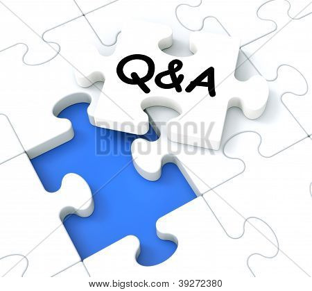 Q&a Puzzle Shows Frequently Asked Questions.