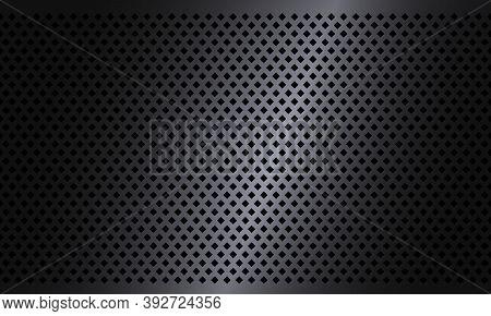 Dark Rhombus Texture Steel Background. Geometric Texture Pattern. Industrial Design Background. Meta