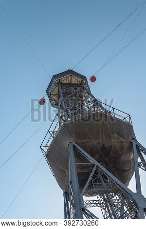 Teleferic Del Port , A Steel Truss Tower, Part Of The Port Vell Aerial Tramway Near The Port Of Barc
