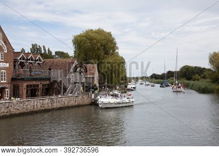 A Boat On The River Frome In Wareham, Dorset In The Uk, Taken On The 23rd July 2020
