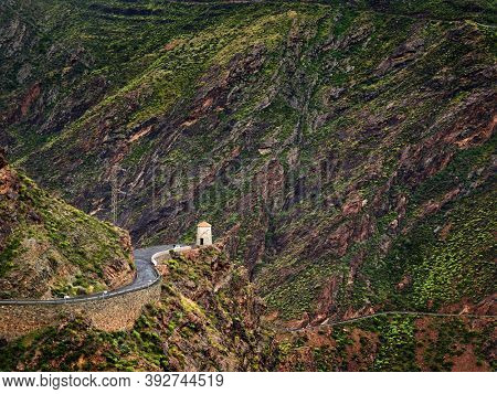 Gran Canaria island mountains and valleys landscape