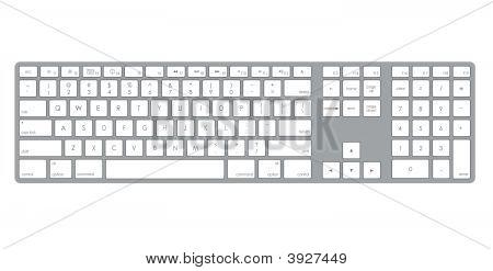 A Computer Keyboard Illustration