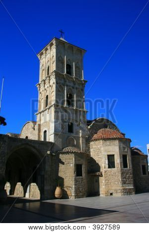 Saint Lazarus Church in Larnaca Cyprus with a beautiful blue sky poster