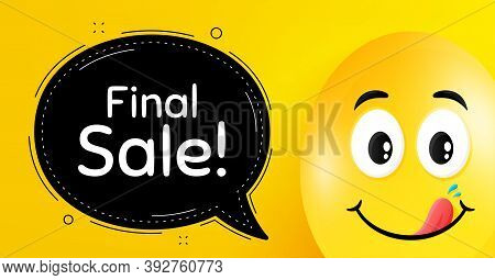 Final Sale. Easter Egg With Yummy Smile Face. Special Offer Price Sign. Advertising Discounts Symbol