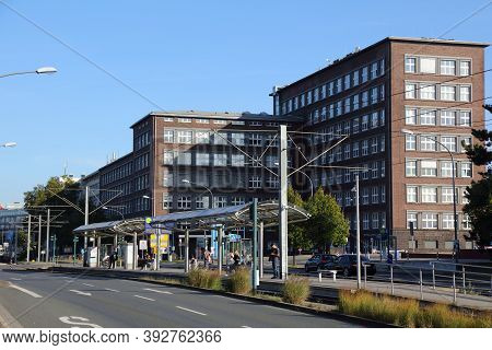 Essen, Germany - September 20, 2020: Thyssenkrupp Business Services Buildings In Essen, Germany. Thy