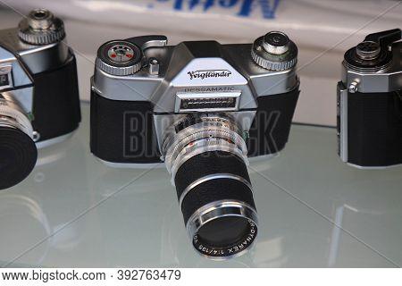 Mulheim A.d. Ruhr, Germany - September 21, 2020: Voigtlander Vintage Rangefinder Camera At Antique S