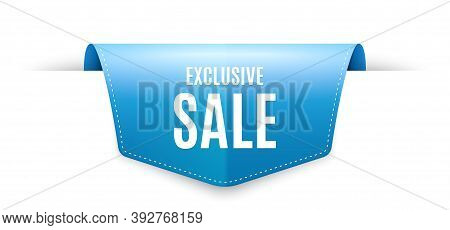 Exclusive Sale. Ribbon Label Tag. Special Offer Price Sign. Advertising Discounts Symbol. Infographi