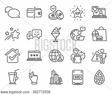 Business Icons Set. Included Icon As Payment Methods, Coffee Cup, Savings Insurance Signs. Friends C