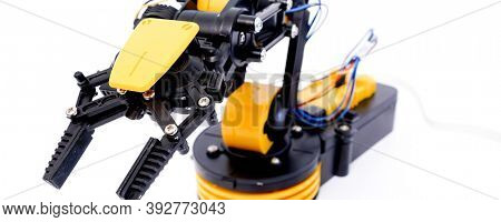 Plastic model of industrial robotics arm  Robot manipulator