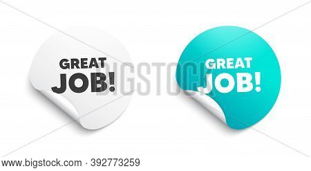Great Job Symbol. Round Sticker With Offer Message. Recruitment Agency Sign. Hire Employees. Circle